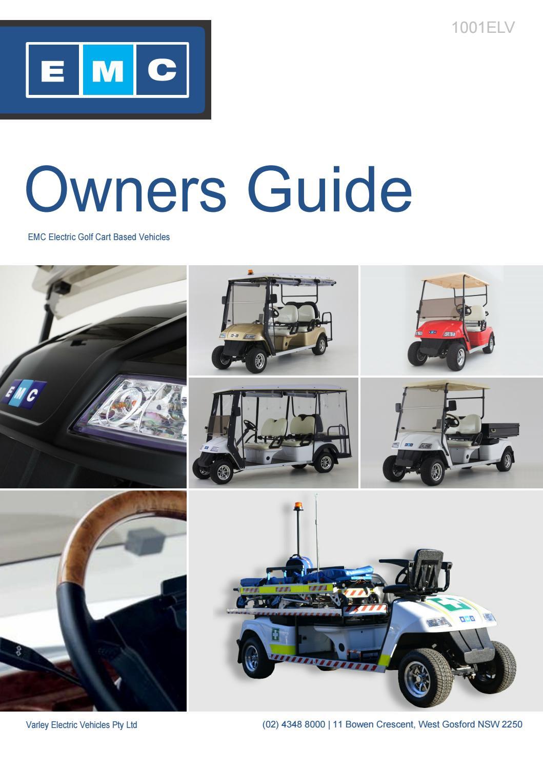 Emc Elite Owners Manual By Emc Electric Vehicles Issuu