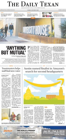 05afdc4ad51 The Daily Texan 2018-01-23 by The Daily Texan - issuu