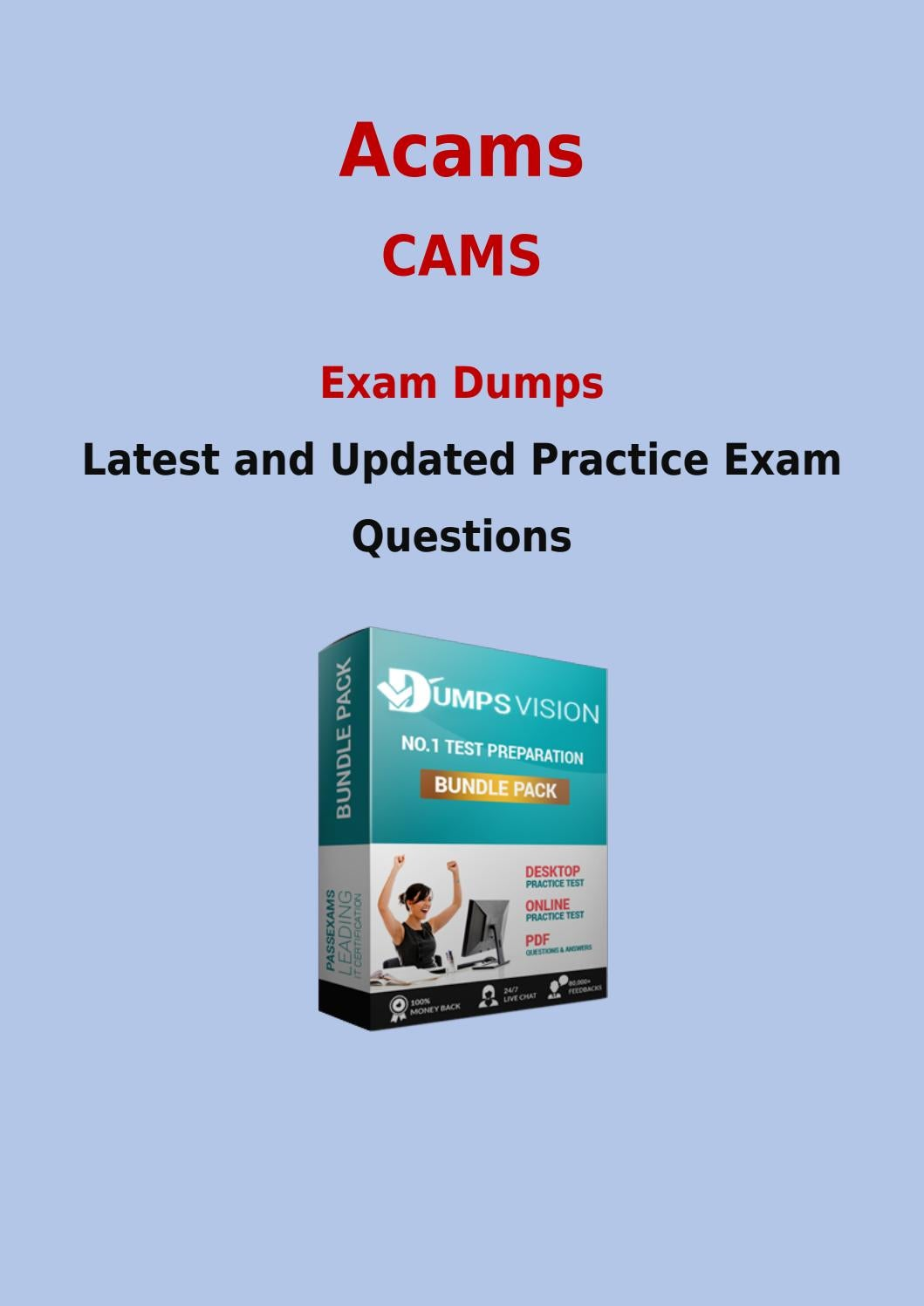 Cams exam dumps get latest acams cams exam questions by