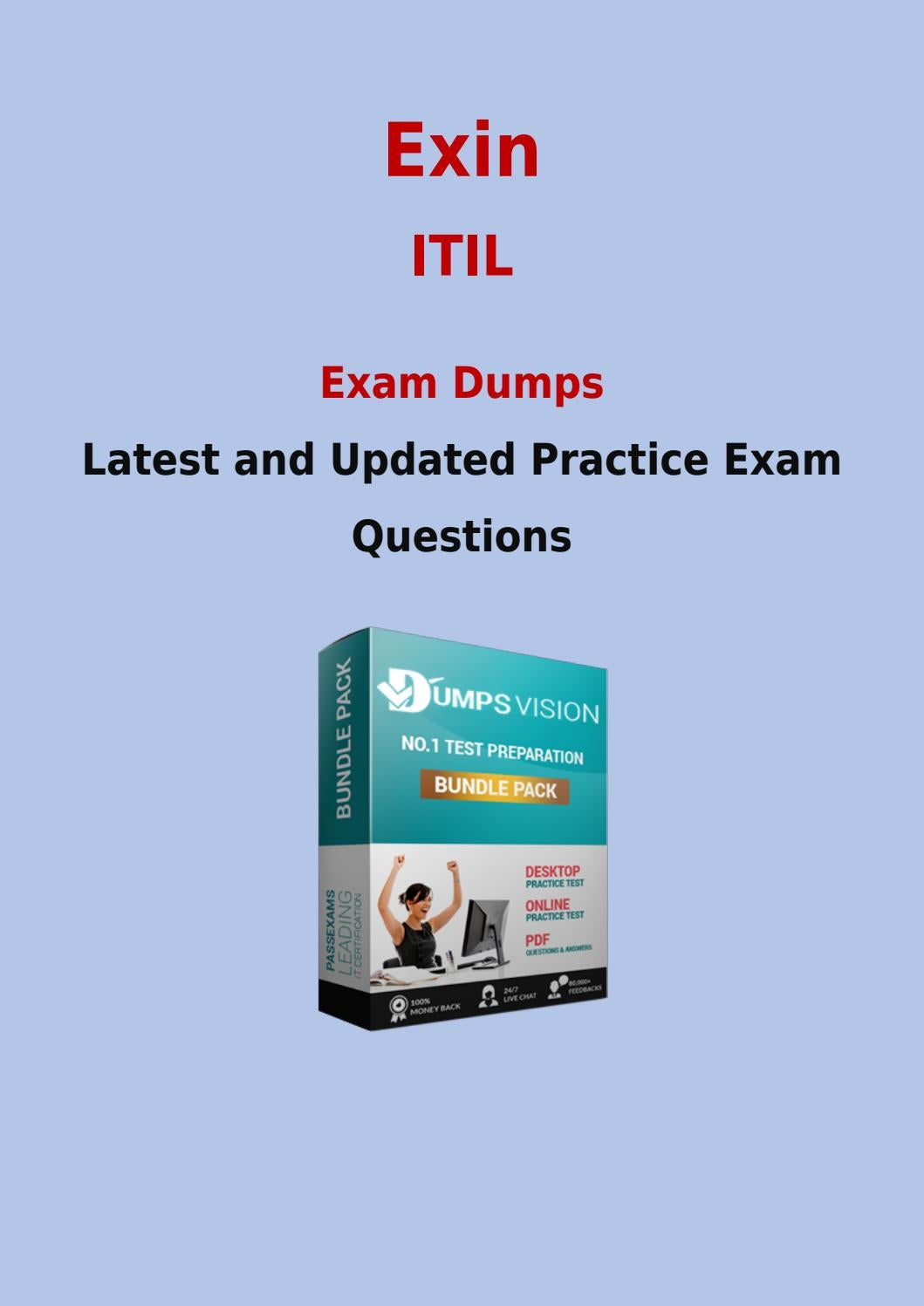 Itil Exam Prep With Authentic Exin Itil Exam Questions Answers And