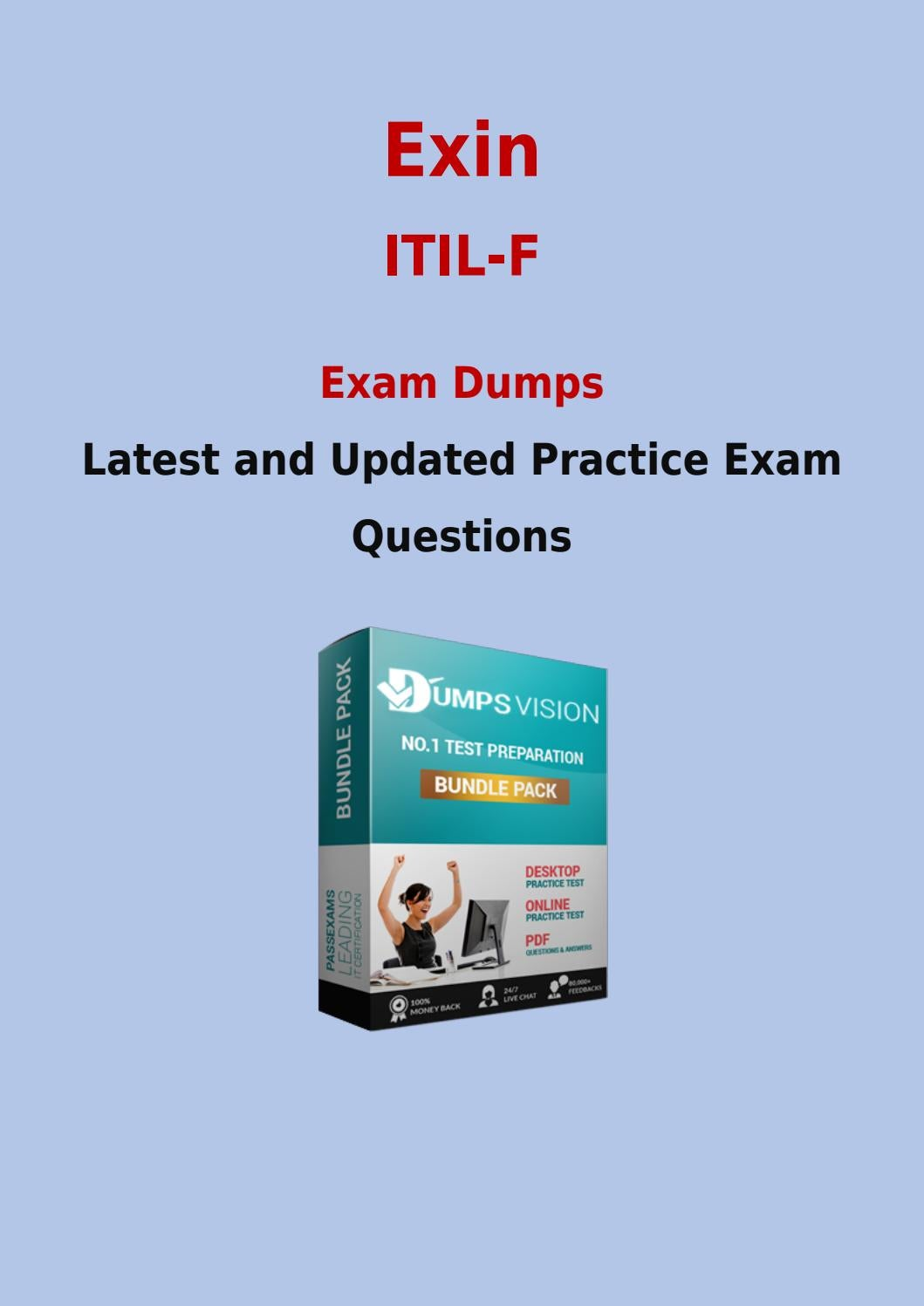 Itil F Test Prep With Actual Exin Itil F Practice Exam Questions