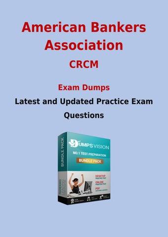 Crcm pdf dumps free american bankers association crcm sample new ...