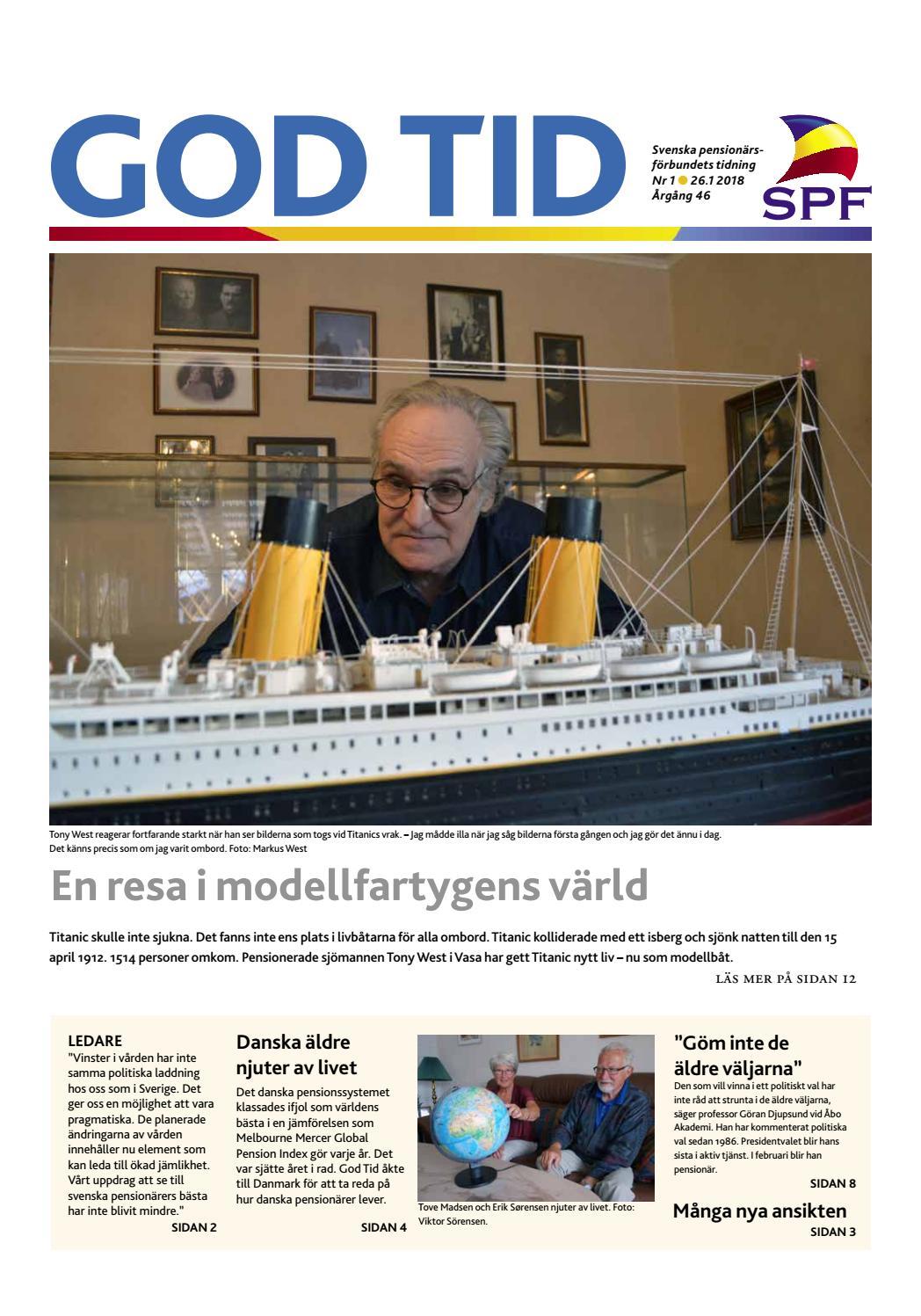 God tid 1 2018 by Svenska pensionärsförbundet 592b514421eeb