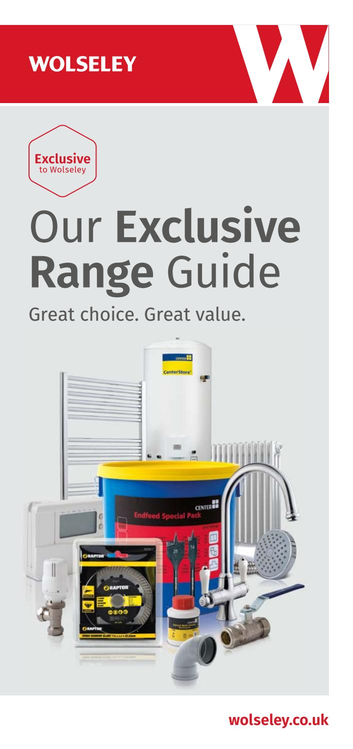 Exclusive Range Guide 2018 by Wolseley UK - issuu