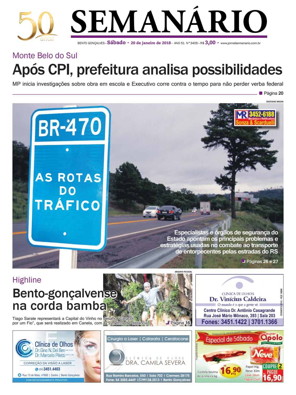 c5f1ce02db5 Jornal Semanário - 20 de janeiro de 2018 - Ano 51 - Nº 3405 by Jornal  Semanário - Bento Gonçalves - RS - issuu