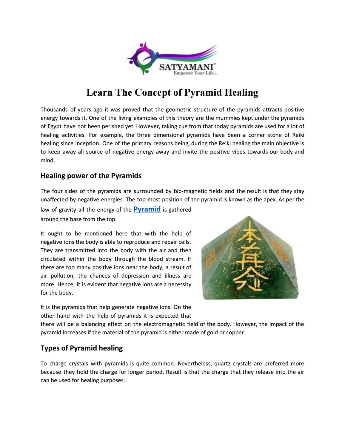 Learn the concept of pyramid healing - satyamni org by