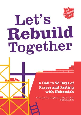 let s rebuild together booklet final by the salvation army uk