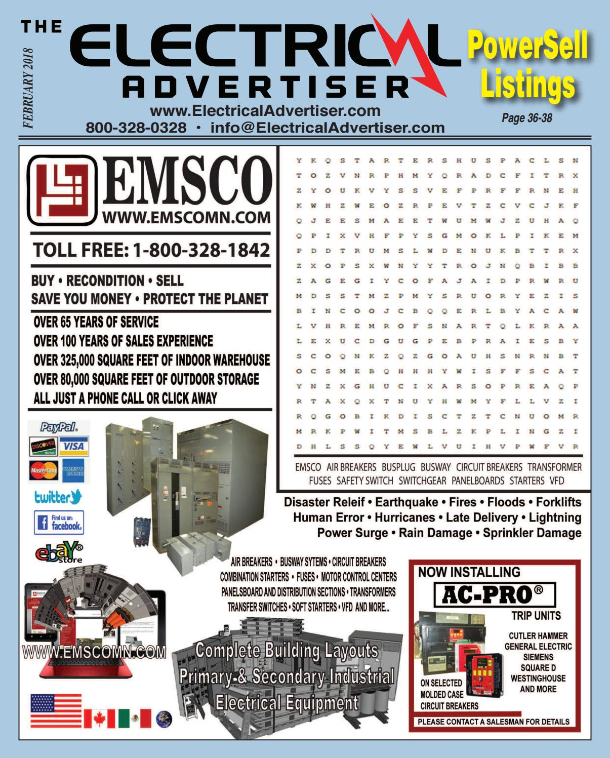 The Electrical Advertiser Trade Publication Feb 2018 by ... on