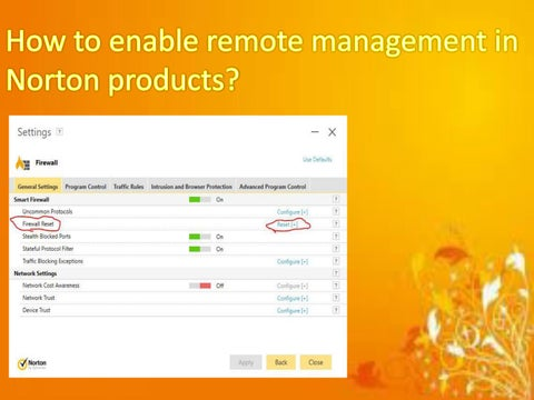 How to enable remote management in Norton products? by