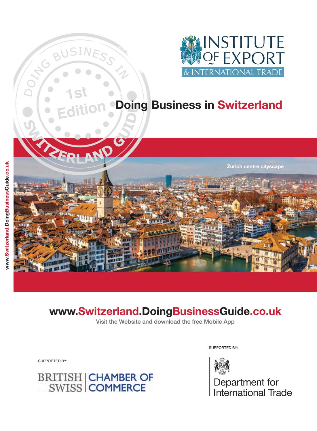 Doing Business in Switzerland Guide by Doing Business Guides
