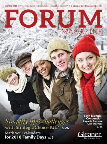 Forum winter 2018 by Gleaner Life Insurance Society - issuu