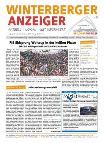 Winterberger Anzeigerausgabe Vom 24012018 Nr3 By Brilon