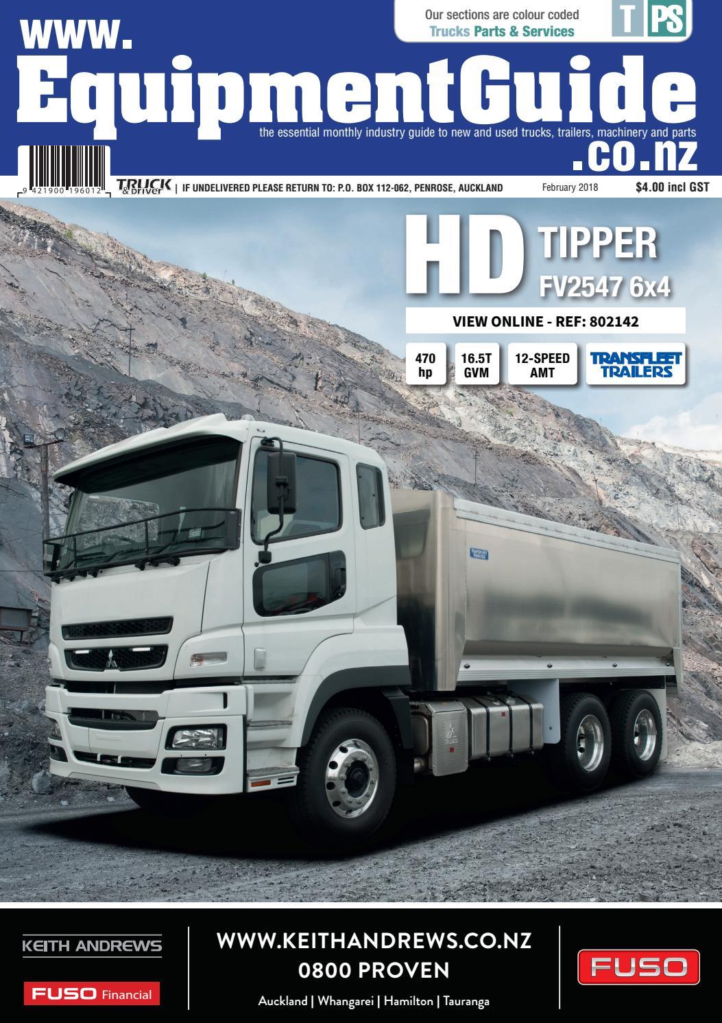 Equipment Guide February 2018 by NZ Truck & Driver - issuu