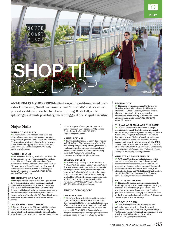 Visit Anaheim Destination Guide 2018 By Orange Coast Magazine Issuu