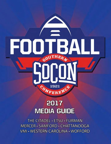 2017 Southern Conference Football Media Guide By Southern Conference