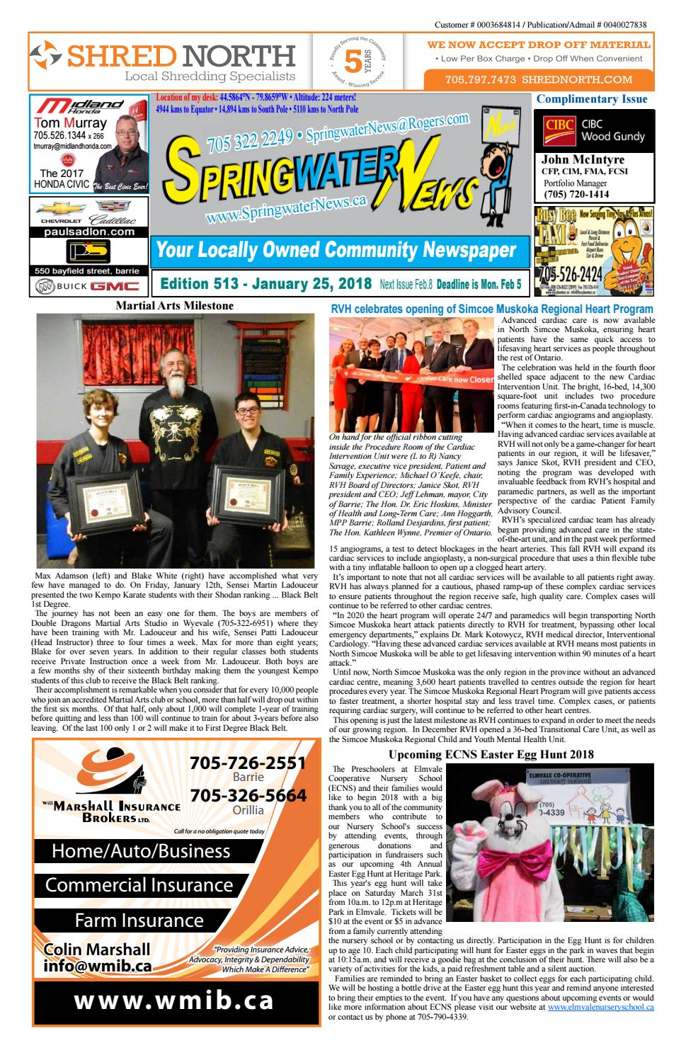 dd526290ccb527 January 25 2018 ed 513 for web by Springwater News - issuu