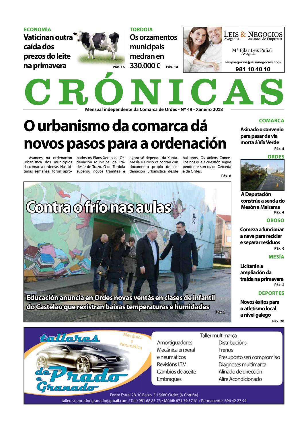 Cronicas Comarcadeordes N49 Xaneiro2018 By Cr Nicas Peri Dico  # Muebles Visantona