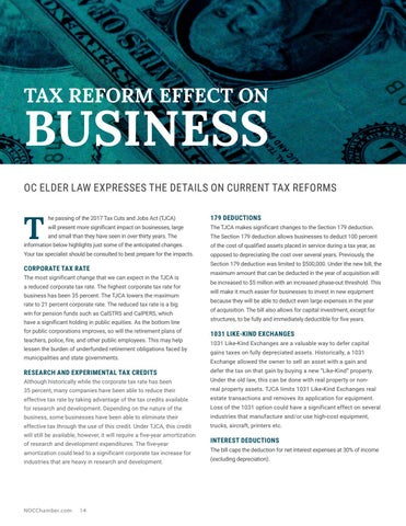 Page 14 of Tax Reform Effect on Business