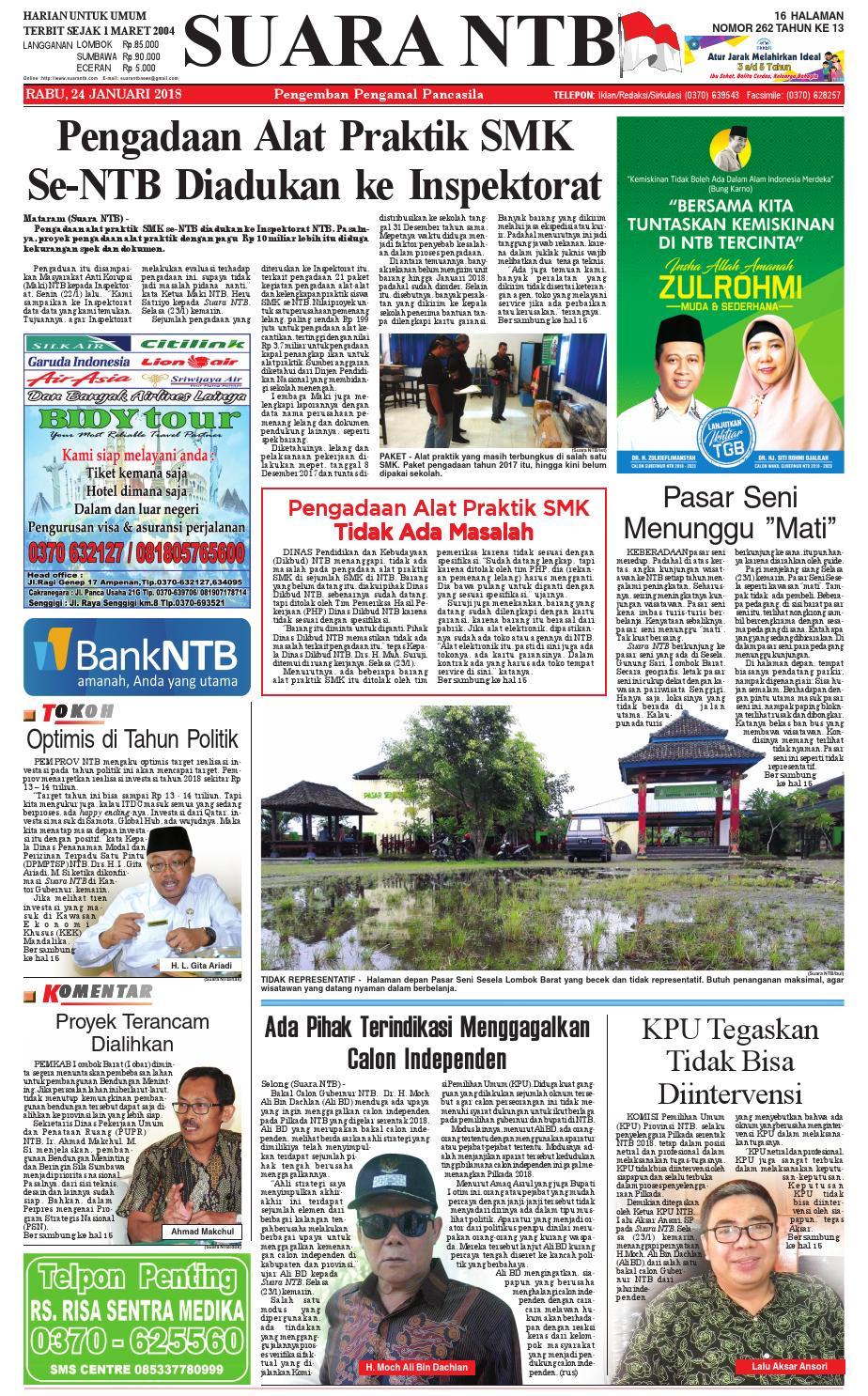 Edisi 24 Januari 2018 Suara Ntb By E Paper Kmb Issuu Parcel Makanan Ampamp Keramik Pja 1608