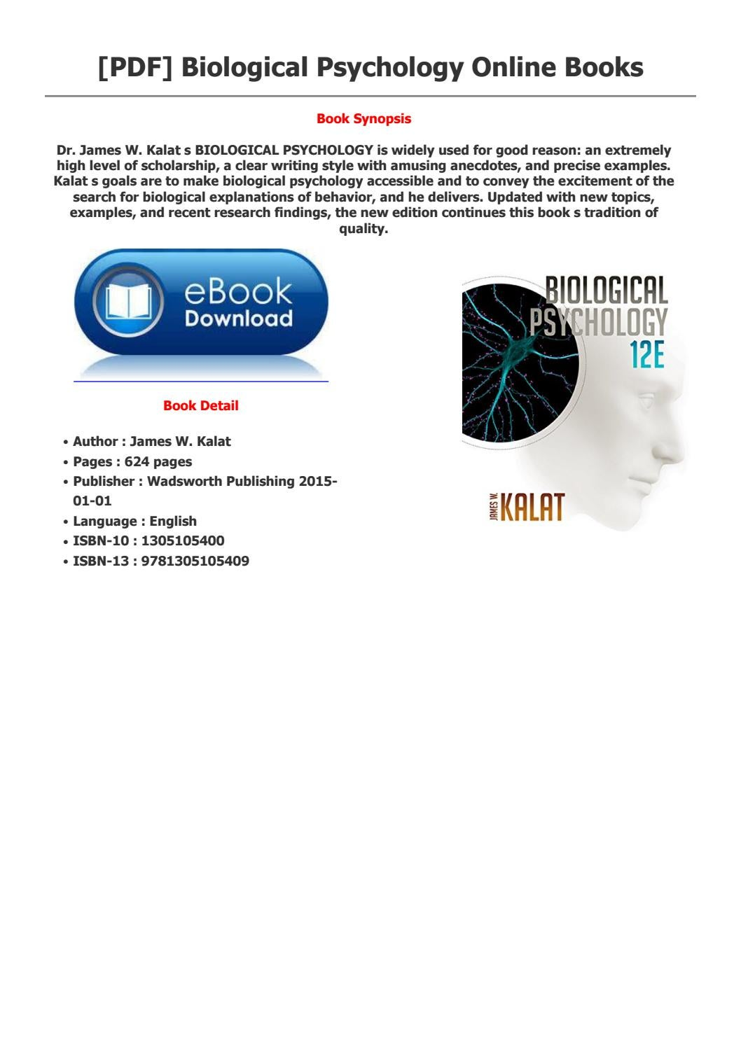 Biological Psychology By Accursius4 Issuu