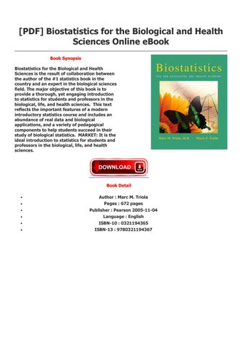 Download [ebook]%% biostatistics for the biological and health scienc….