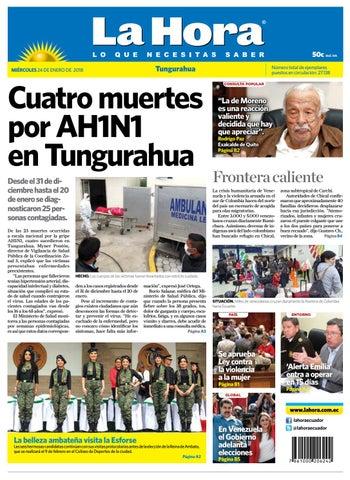 Tungurahua 24 de enero de 2018 by Diario La Hora Ecuador - issuu 34417f99f527