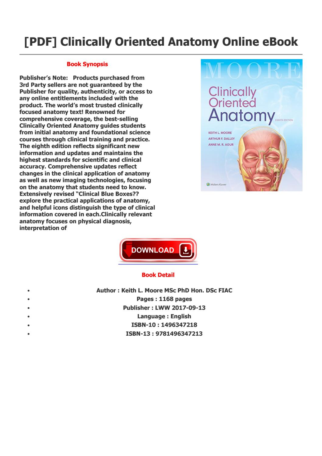 Clinically oriented anatomy by rodericky - issuu