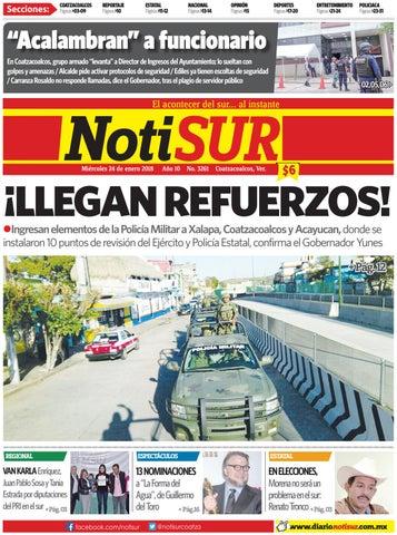 NotiSUR 24 de enero 2018 by Diario NotiSUR Coatzacoalcos 2015 c2907d7154d