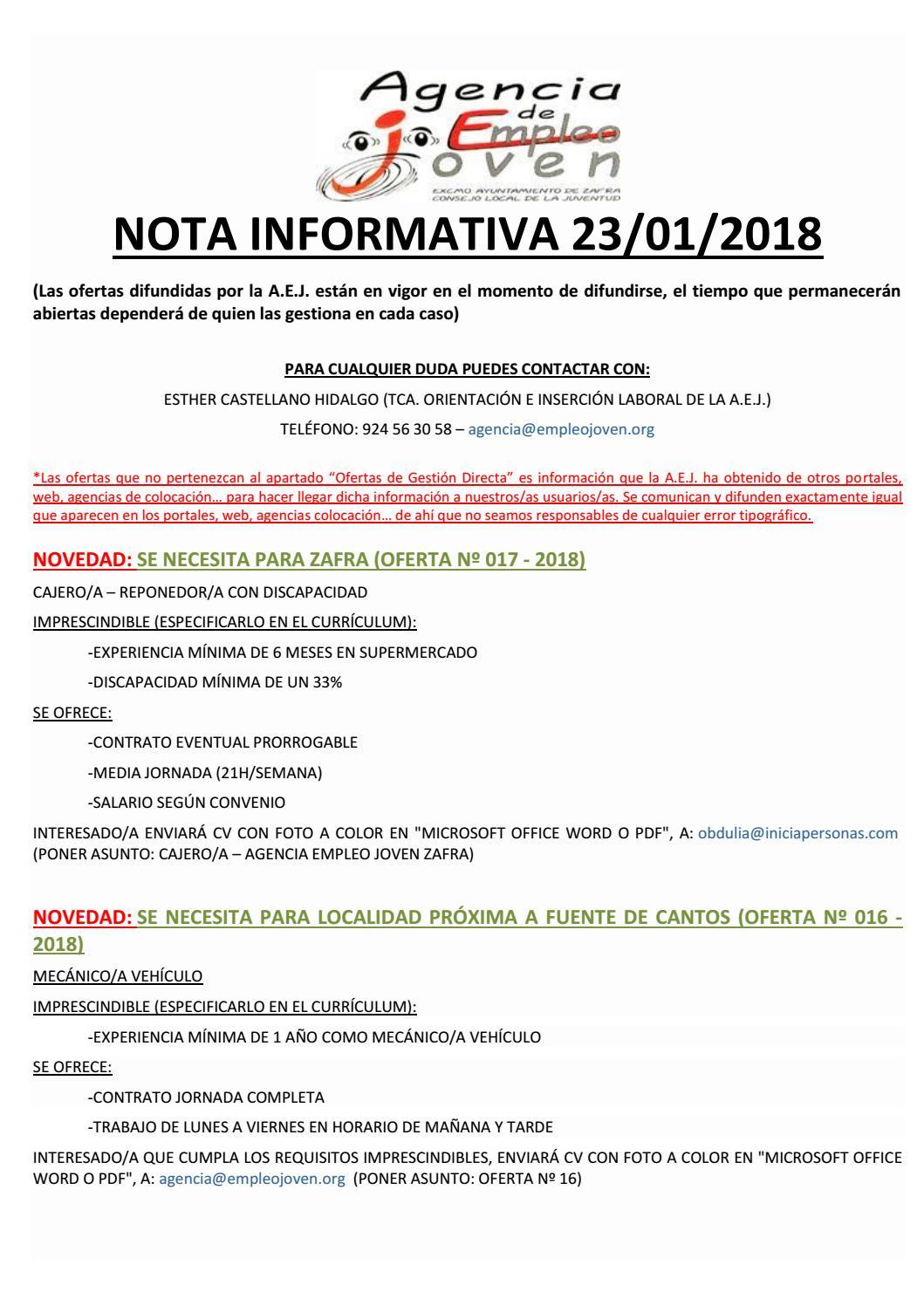 Nota informativa 23 by Segura De León - issuu