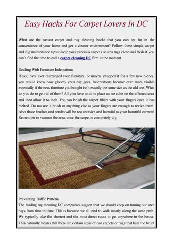 Easy Hacks For Carpet In Dc By