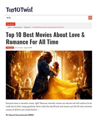 Top 10 best movies about love & romance for all time by