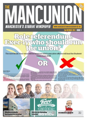 9b772b0945 Issue 3 by The Mancunion - issuu