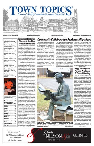 Town Topics Newspaper January 24 2018 By Witherspoon Media Group