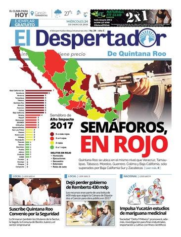 El Despertador de Quintana Roo 24-1-2018 by eldespertadorqr - issuu acc9ab255b9