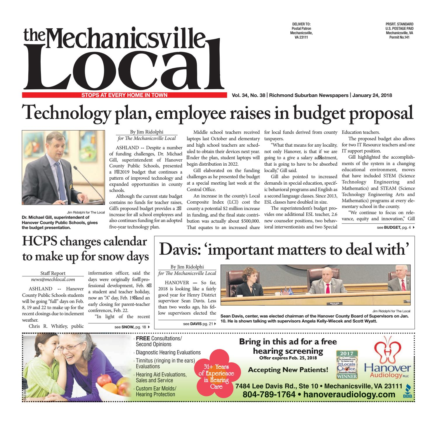 01/24/18 by The Mechanicsville Local - issuu