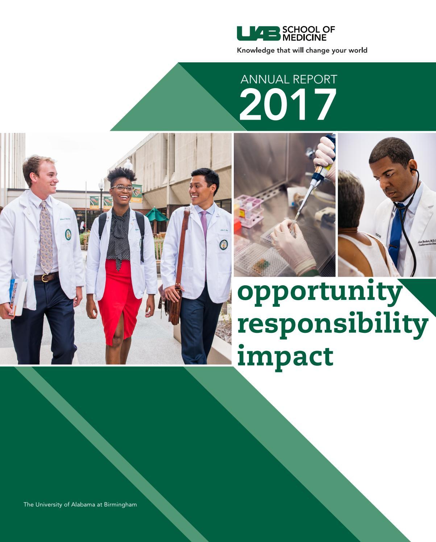UAB School of Medicine Annual Report 2017 by UAB School of