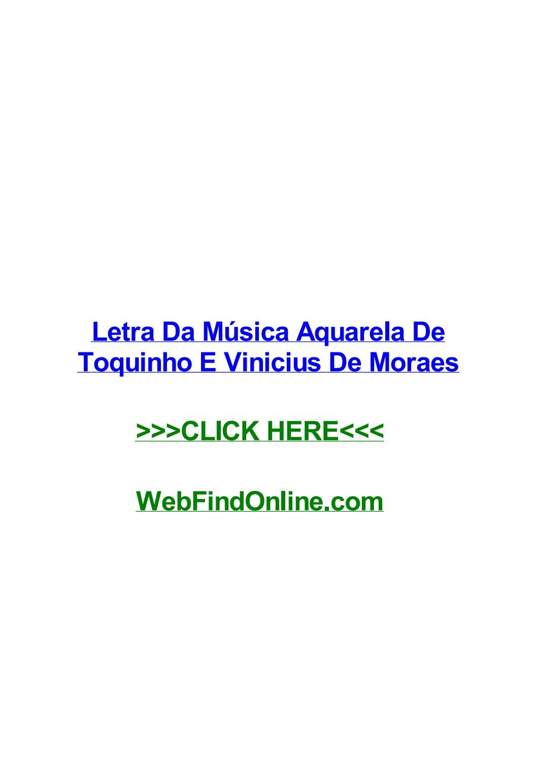 AQUARELA TOQUINHO DE PARA BAIXAR MUSICA