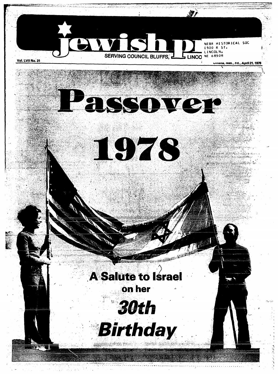 April 21 1978 Passover Edition By Jewish Press Issuu