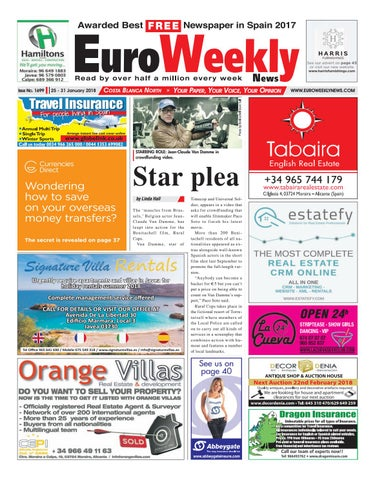 72c1df687ddbf Euro Weekly News - Costa Blanca North 25 - 31 January 2018 Issue ...