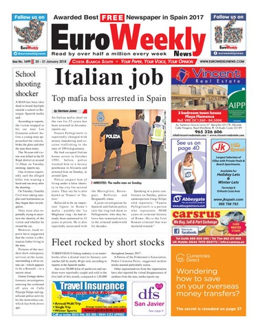 Euro weekly news costa blanca south 25 31 january 2018 issue 25 31 january 2018 fandeluxe Images