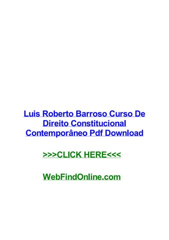 Constitucional curso roberto direito barroso pdf de luis contemporaneo