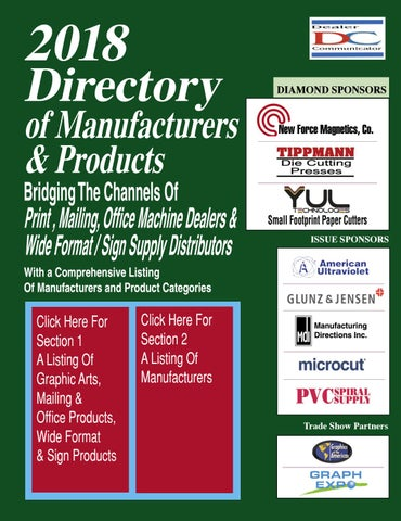 2018 Directory of Manufacturers and Products by Fichera