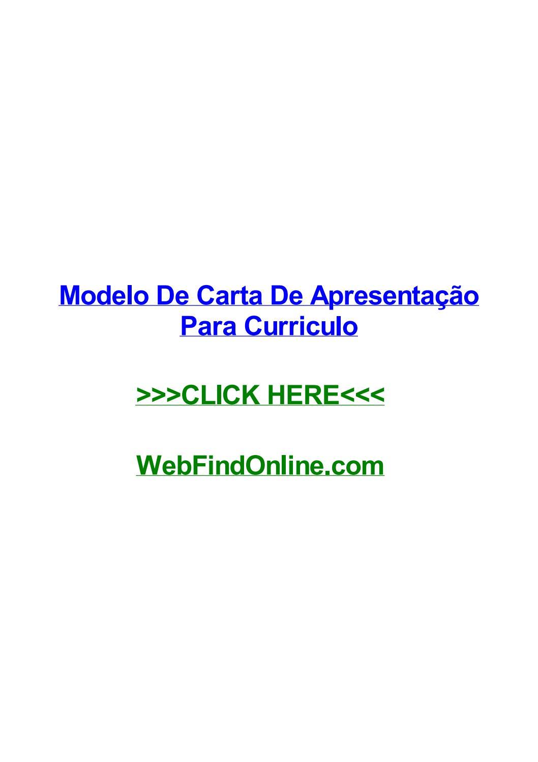 Modelo De Carta De Apresentaггјo Para Curriculo By