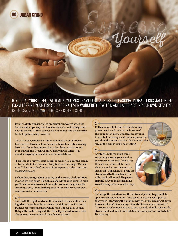 How to do coffee art leaf design