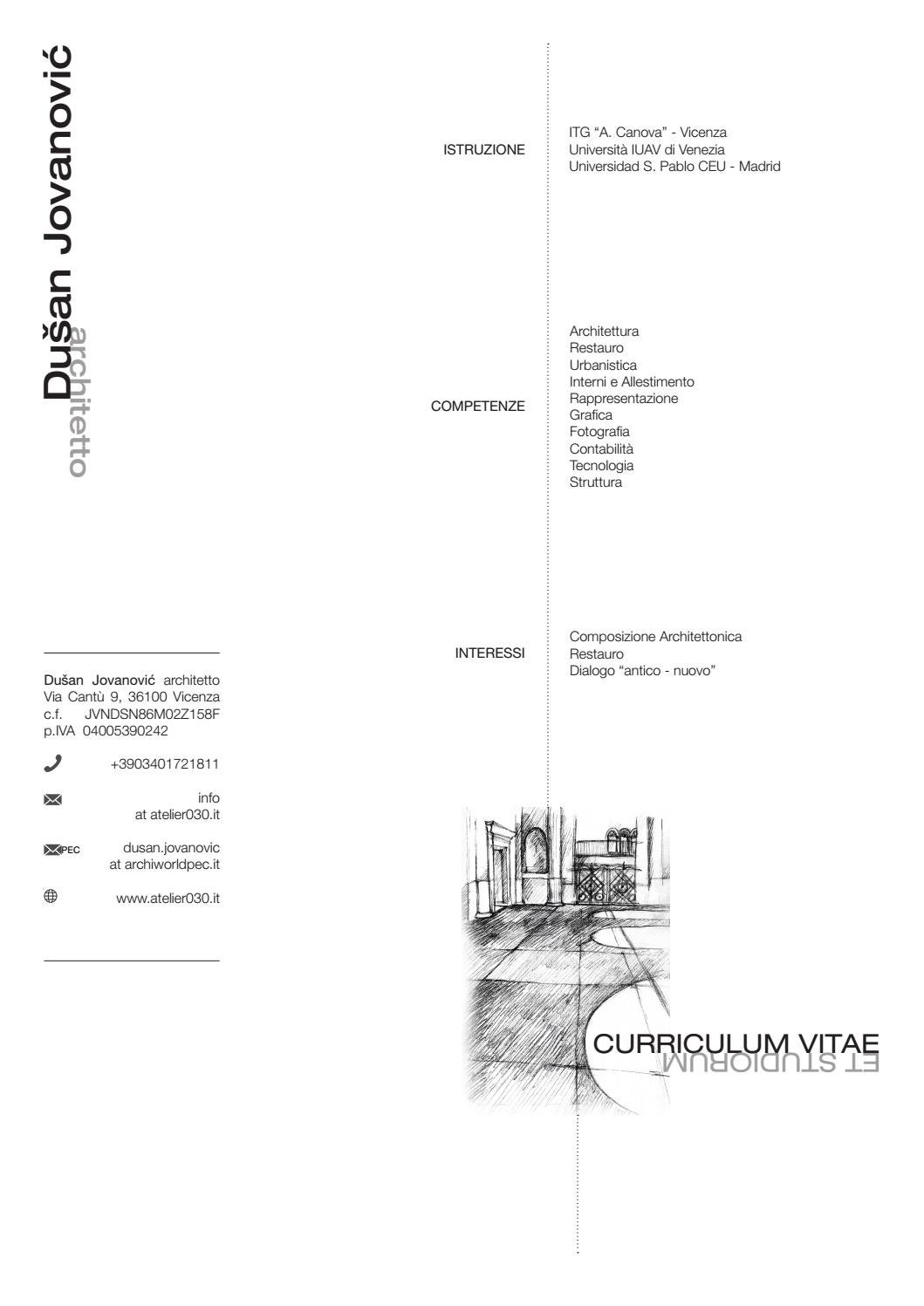 Dusan Jovanovic Architetto Curriculum Vitae By Dušan Jovanović Issuu
