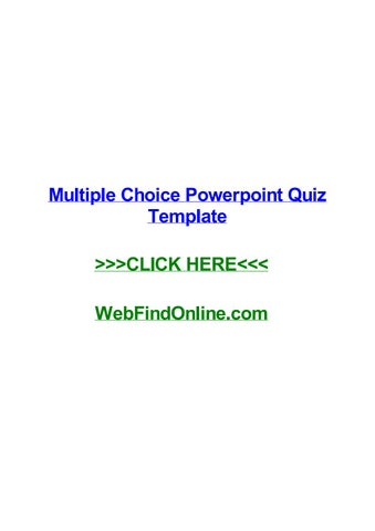 Multiple choice powerpoint quiz template by ashleyljspv issuu multiple choice powerpoint quiz template multiple choice powerpoint quiz template st helens monografia com o tema gravidez na adolescncia artigo 299 do toneelgroepblik Choice Image