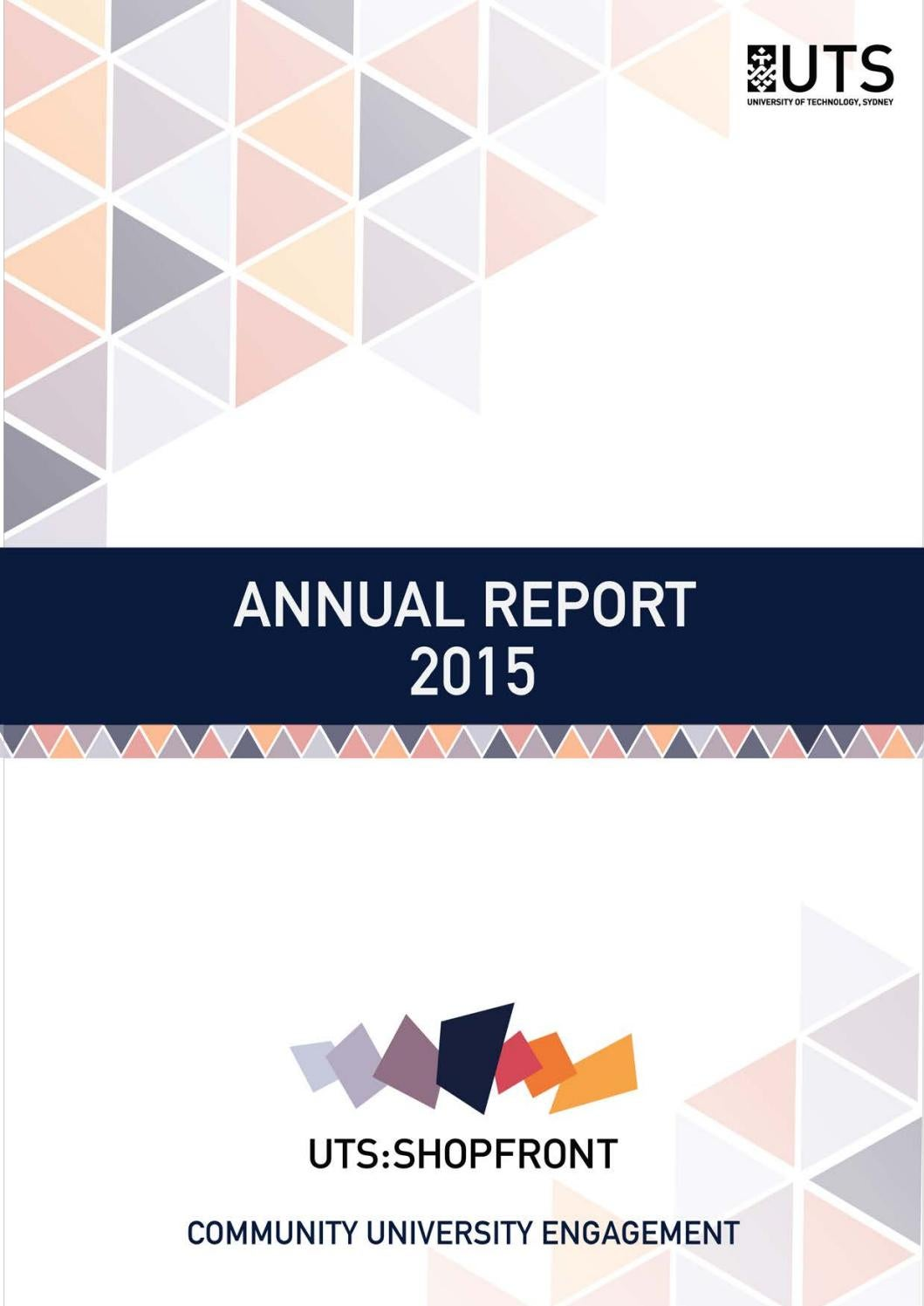 Uts Shopfront Annual Report 2015 By Uts Shopfront Issuu