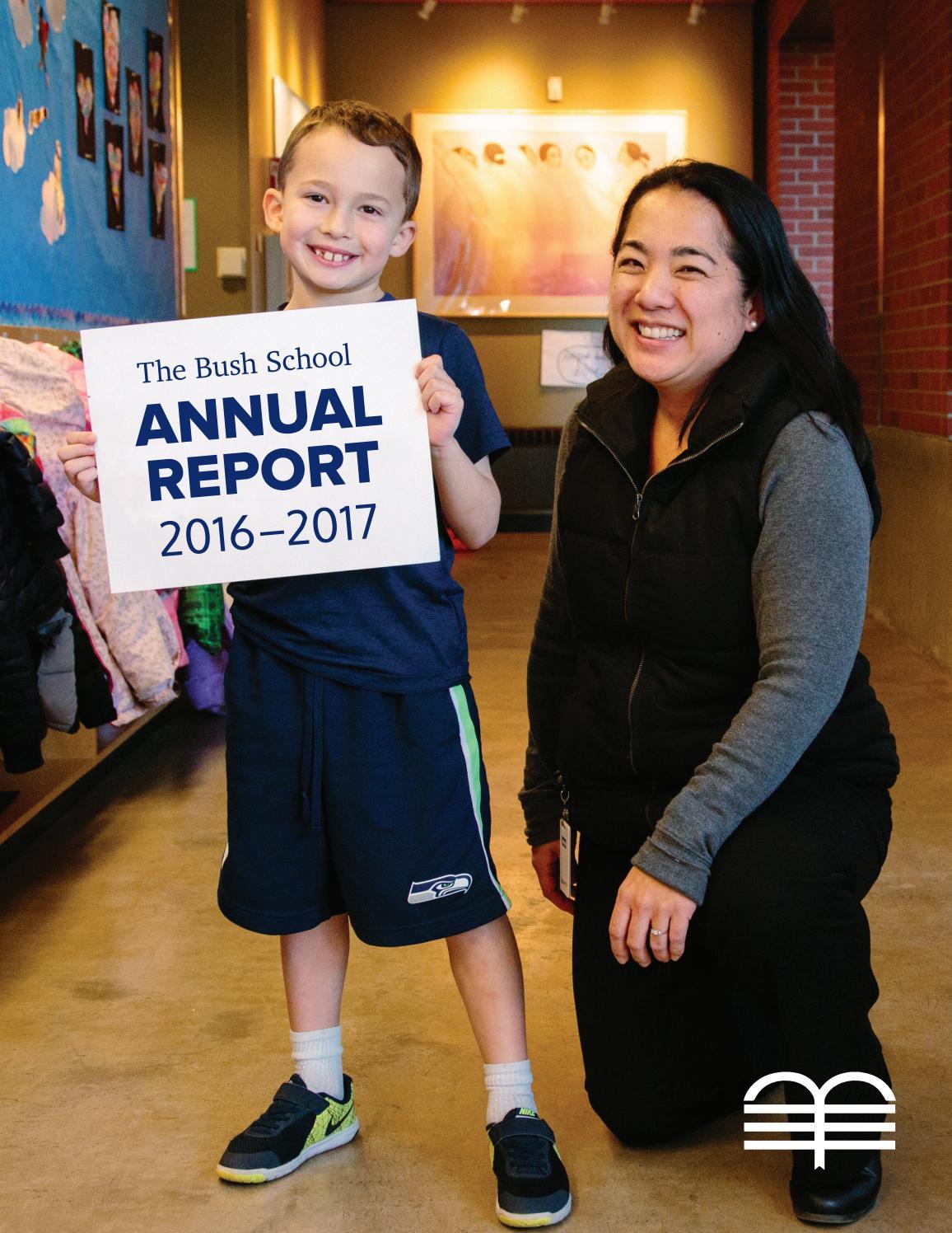 foto de The Bush School Annual Report 2016 2017 by The Bush School