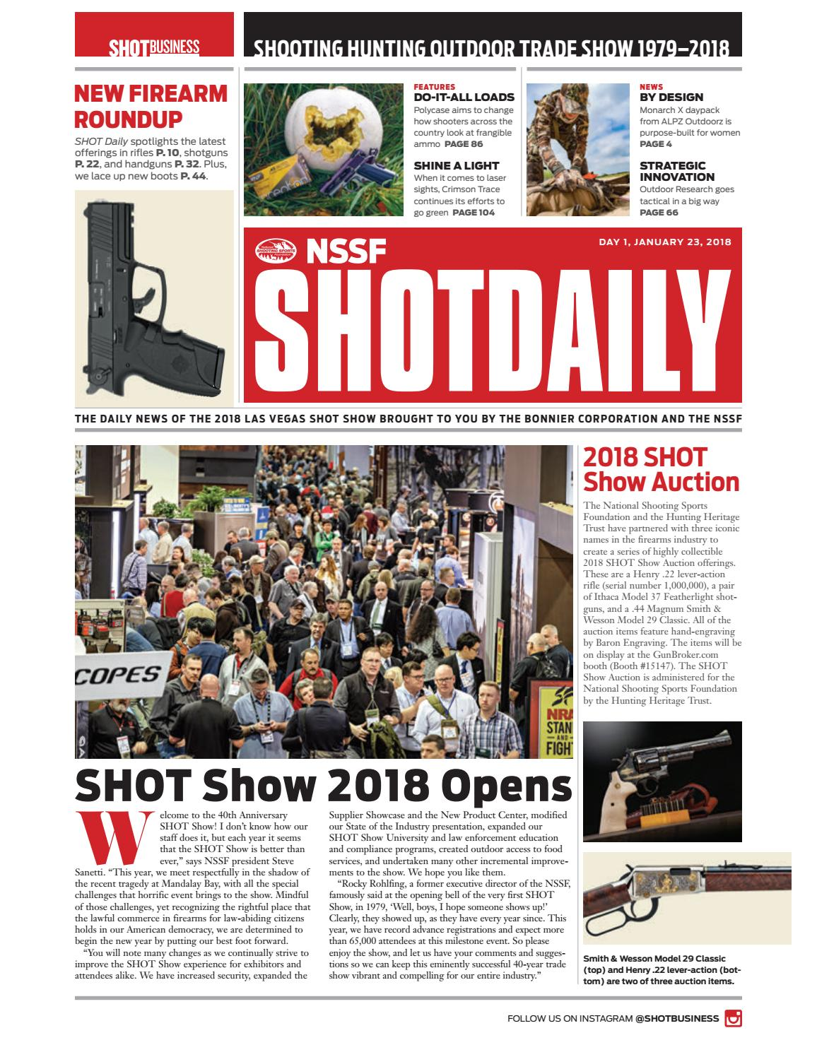 a70449d5a9d5 SHOT Daily - Day 1 - 2018 SHOT Show by SHOT Business - issuu