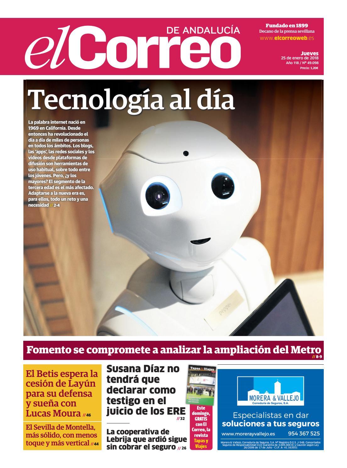25.01.2018 El Correo de Andalucía by EL CORREO DE ANDALUCÍA S.L. - issuu